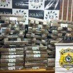 Polícia prende três e apreende cerca de 200 kg de drogas em Tio Hugo